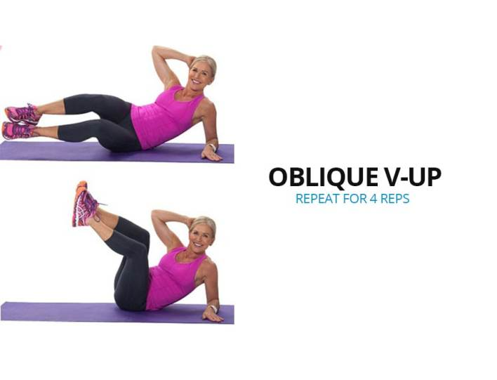 Oblique V-Up: