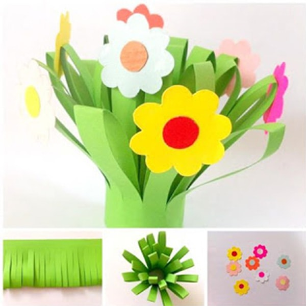 Beautiful Children's Projects Using Paper Flowers