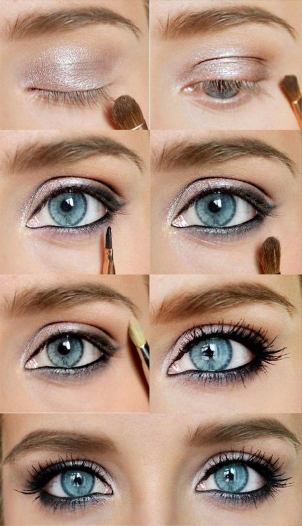 6-Makeup Step By Step For Blue Color Eyes!