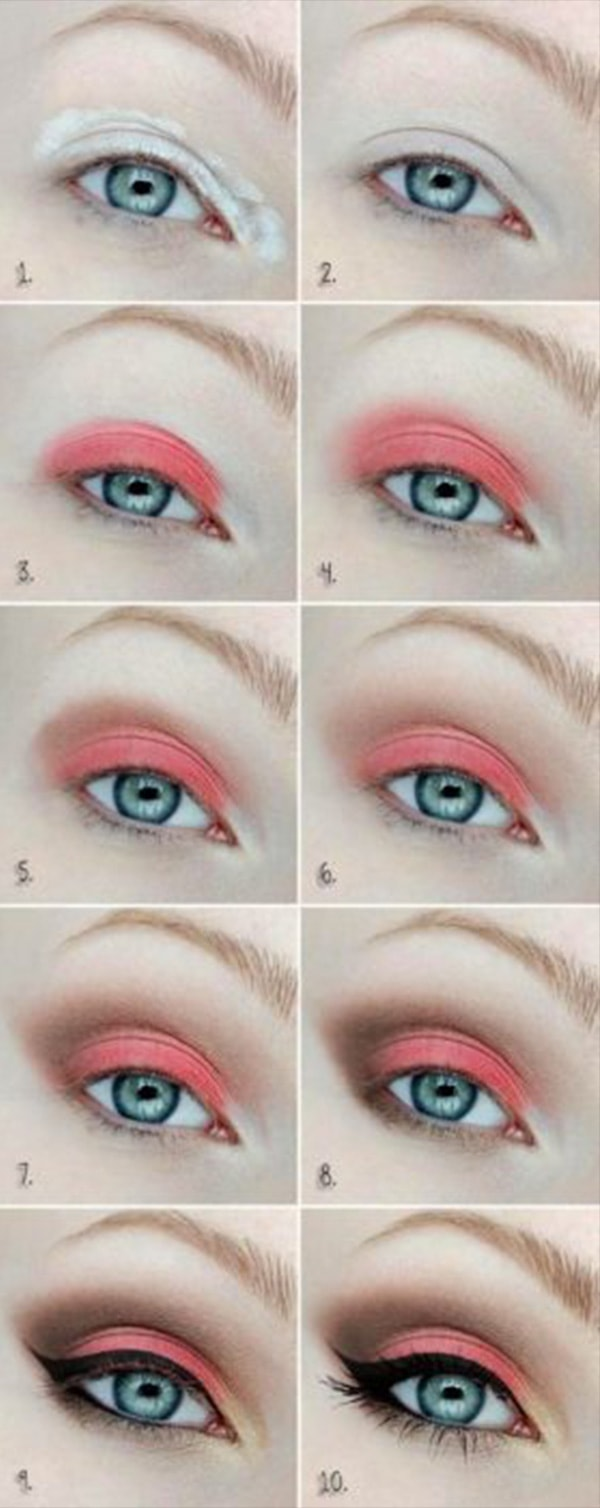7-Makeup Step By Step For Blue Color Eyes!