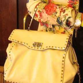 Floral jacket Valentino bag