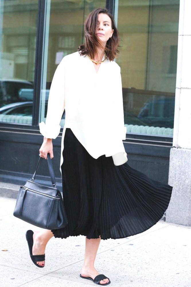 NYFW Street Style Black and white