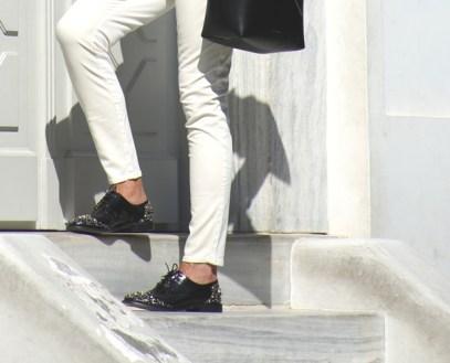 Street Style | Nina Papaioannou Androgynous oxford shoes TrendSurvivor12