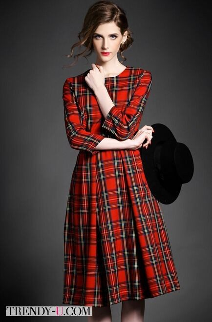 Как носить шотландскую клетку. 10 идей на каждый день ... Тартан Платье