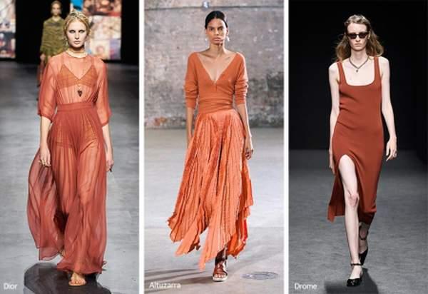 Оттенок ржавчины - модный цвет весна-лето 2021