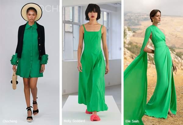 Платья мятного оттенка зеленого
