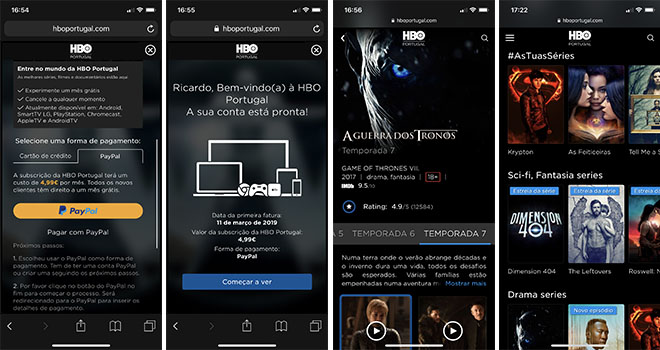HBO Portugal Smartphone