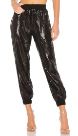 black sequin jogger