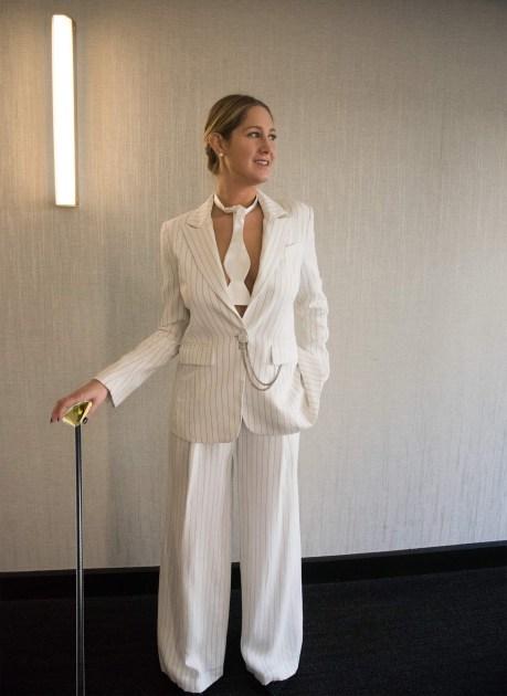 sam white suit cane