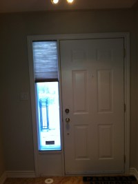 Front Door Sidelight Window Covering solution  Trendy Blinds