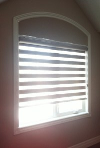 Extended eyebrow arch window covering  Trendy Blinds