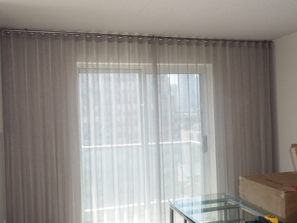Modern Wave Drapes And Sheers For Condos Trendy Blinds