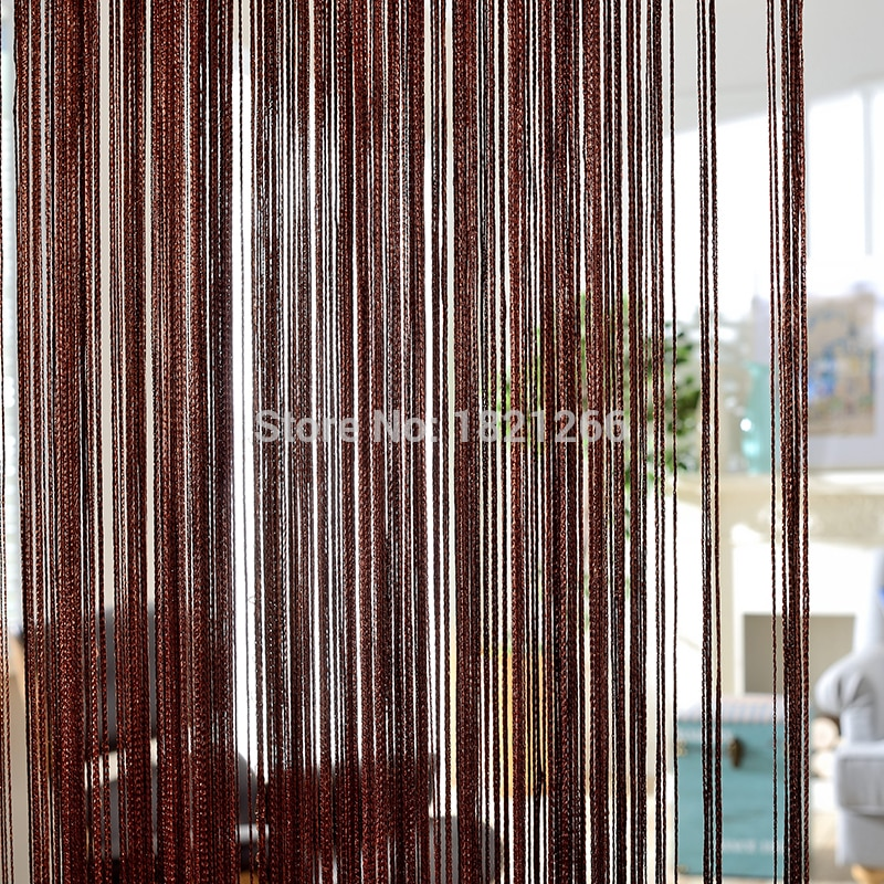 solid color string beaded curtains in white blank gray classic line colors beaded curtain window blind valance room divider door decorative