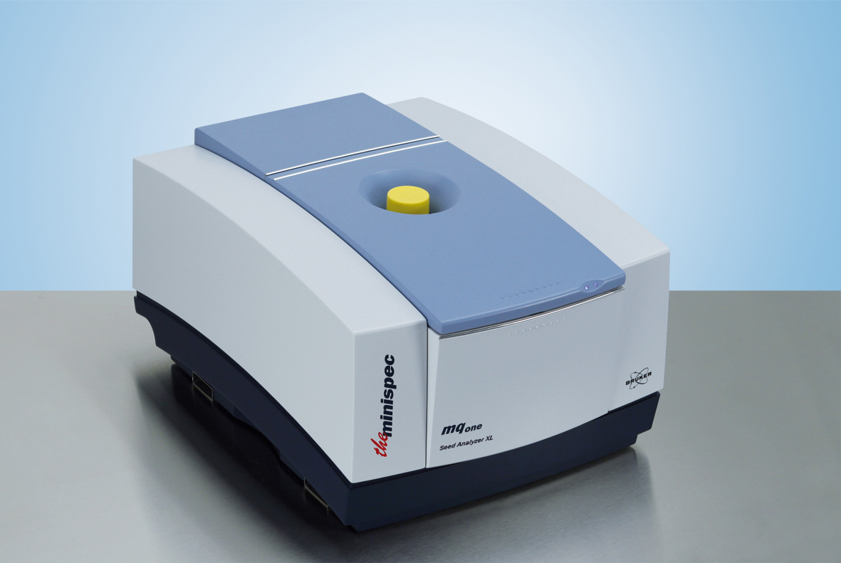 The minispec mq-one XL Seed Analyzer