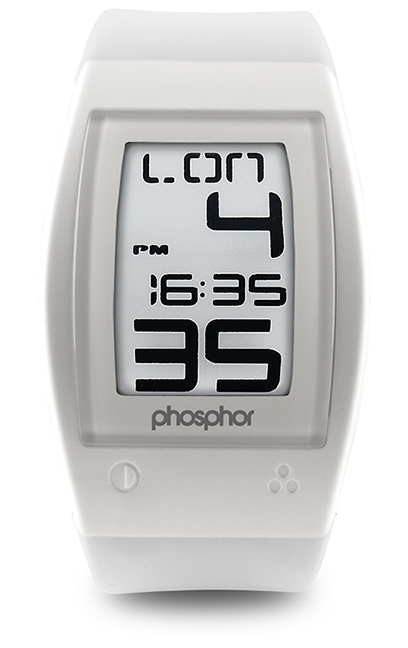 Phosphor World Time Sport E Ink Digital Watch