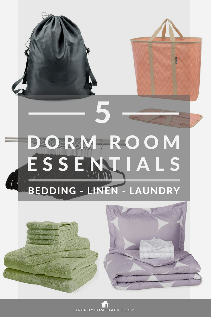 Best Dorm Room Bedding, Linen & Laundry Essentials