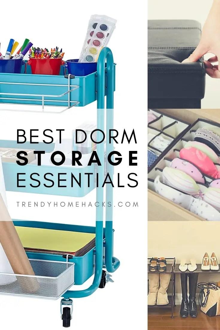 Best Dorm Room Storage Essentials
