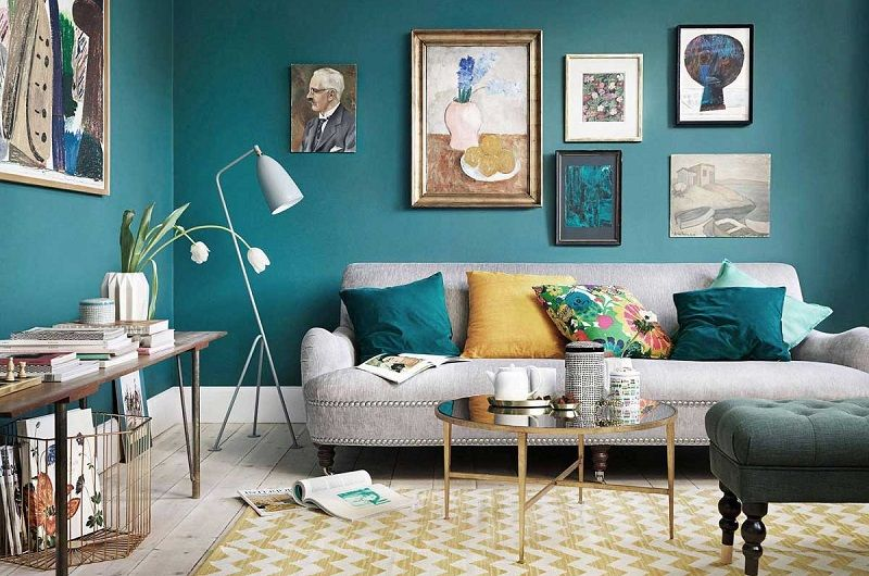 Teal and Grey Living Room Ideas in 2021   Trendy Home Interiors