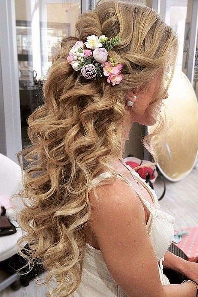 Wedding Hairstyles: Wedding Hair Half Up Ideas #weddings #