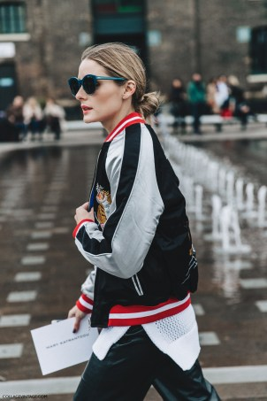 LFW-London_Fashion_Week_Fall_16-Street_Style-Collage_Vintage-Olivia_Palermo-Bomber_Jacket-Leather_Trousers-Red_Shoes-11