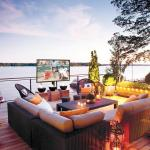 Deck with TV