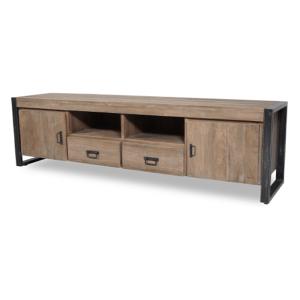 TV meubel teakhout 200cm breed