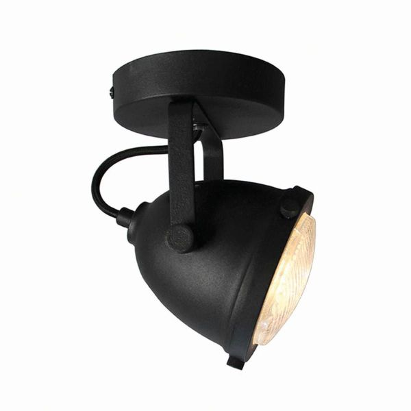 LED Spot Moto 1 lichts Zwart 12x12x16 3 cm
