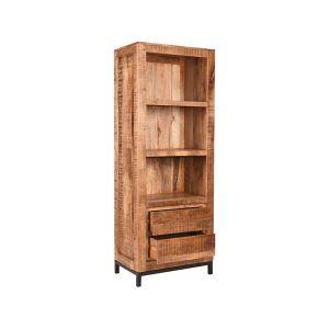 boekenkast ghent rough mangohout 70x45x185 cm perspectief 1