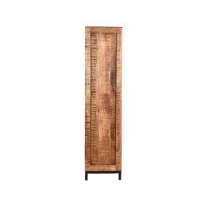 boekenkast ghent rough mangohout 70x45x185 cm zijkant 1
