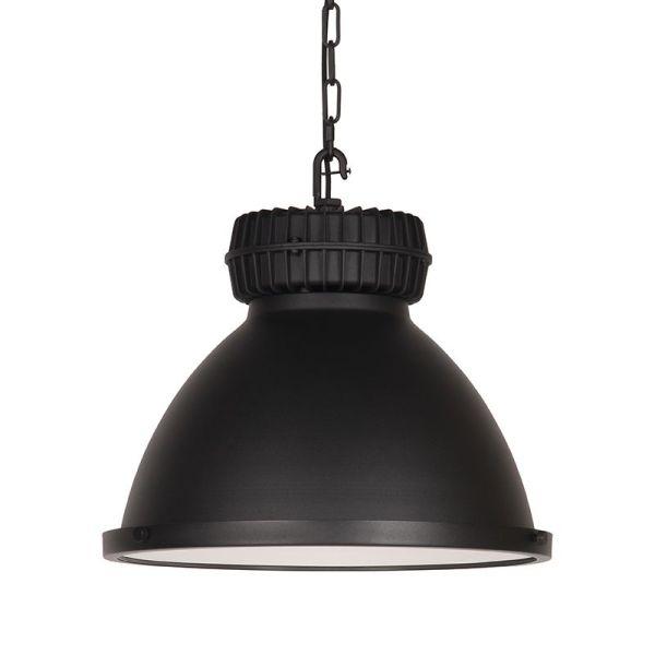 hanglamp heavy duty zwart metaal 50x50x40 voorkant 2