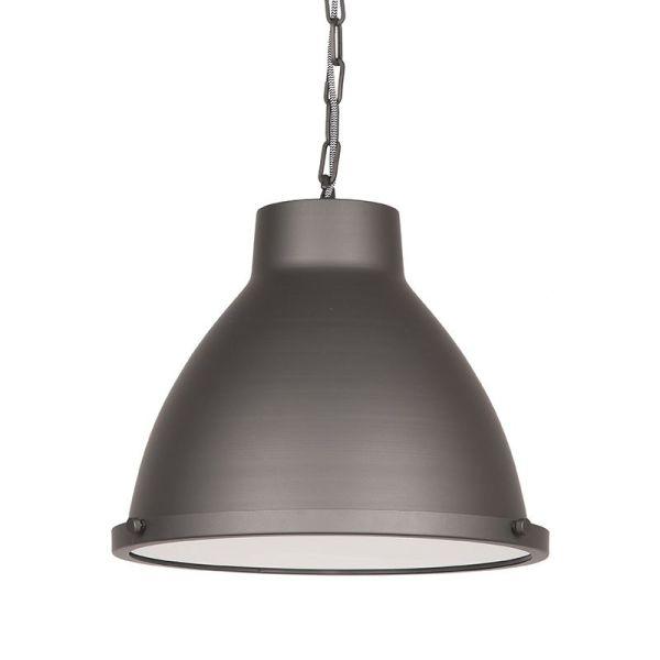 hanglamp industry burned steel metaal 42x42x37 cm voorkant 2 2