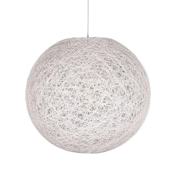hanglamp twist wit vlas 60x60x60 cm voorkant aan 1
