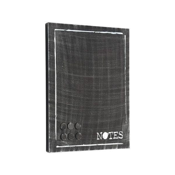 memobord antiek zwart metaal 36x3x46 cm perspectief