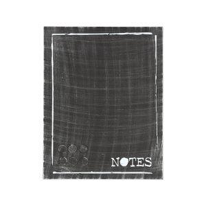 memobord antiek zwart metaal 36x3x46 cm voorkant