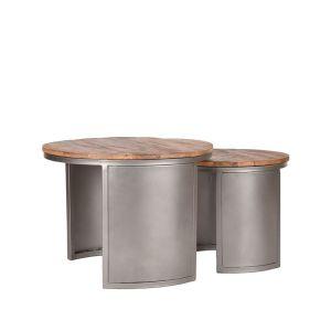 salontafel set bunch vintage metaal 60x60x45 cm perspectief