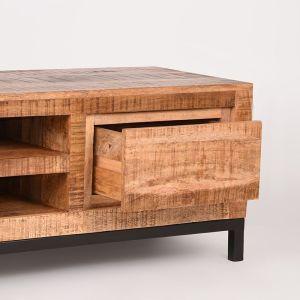 tv meubel ghent rough mangohout 160x45x45 cm detail 2
