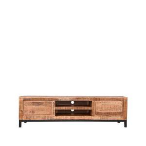 tv meubel ghent rough mangohout 160x45x45 cm voorkant 2