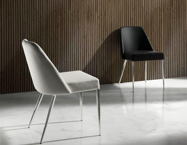 dining chairs with stainless steel legs gaming chair bluetooth leather trendy products s blog angel cerda contemporary quilted in various fabric colours
