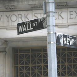 Wall Street Sign, About Trendy Stock Charts