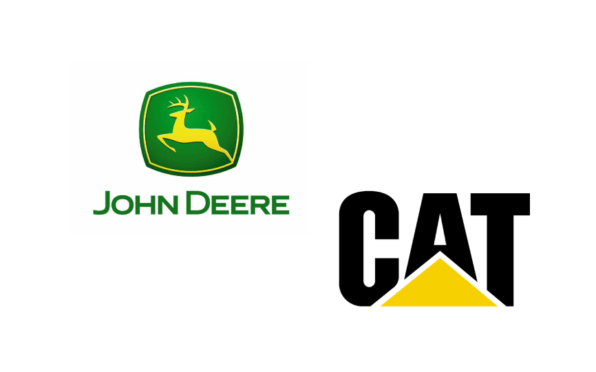 Caterpillar (CAT) vs. John Deere (DE) Stock Logos, Caterpillar (CAT) & Deere (DE) Stock Logos