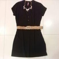 Trendy Store_Chemise preto e cinto