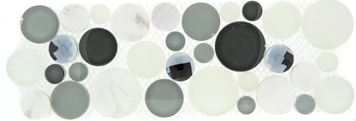 TS866157 MULTI SIZE CIRCLE MOSAIC (sold per sheet) (4x11.25 each sheet)