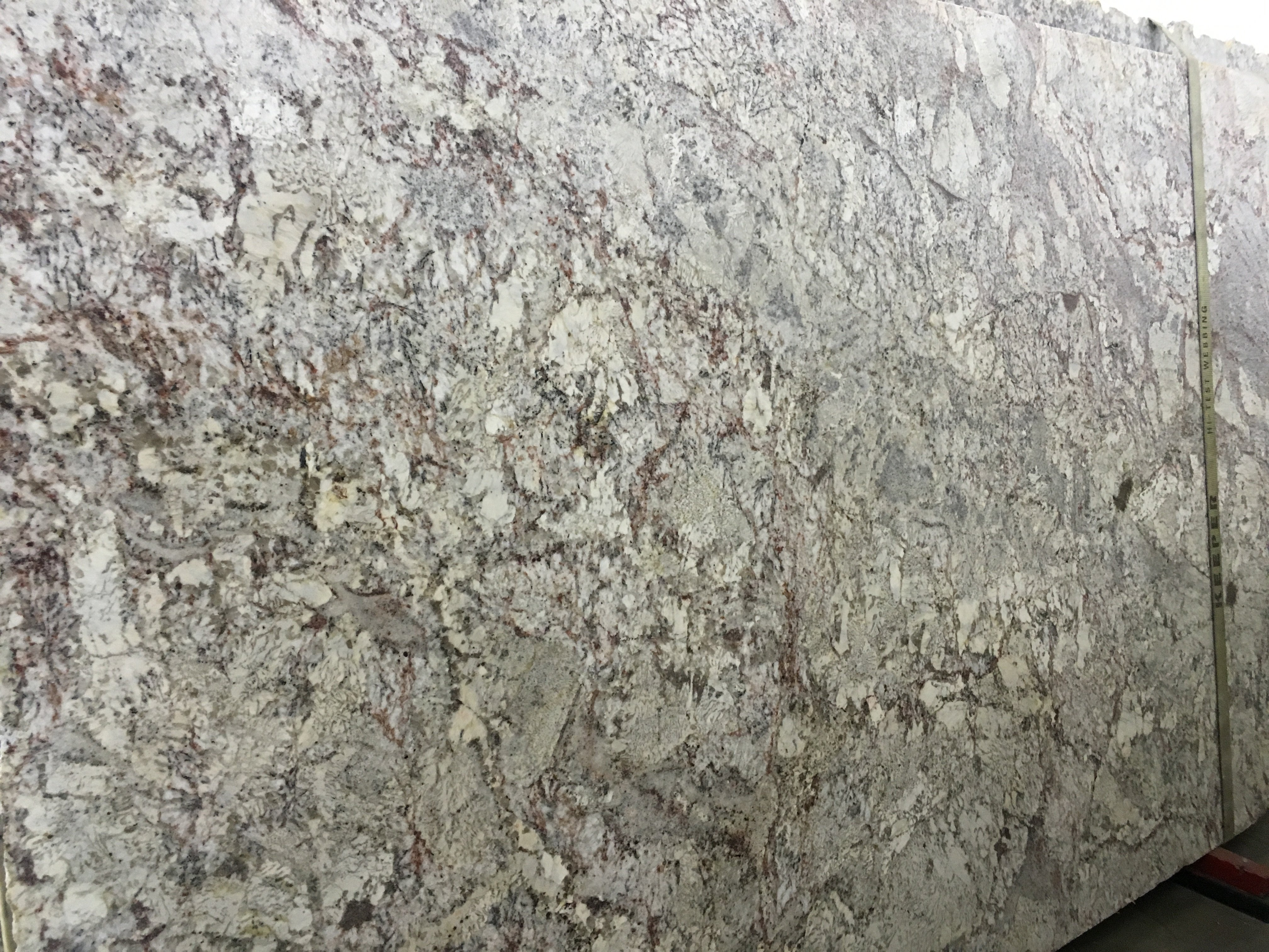 White Springs Leather Granite Slab Trendy Surfaces