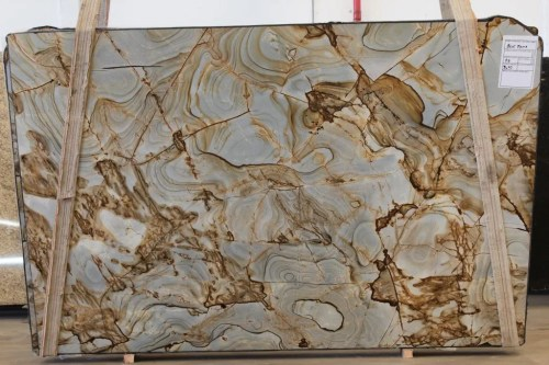 Spiderman Blue Polished Quartzite Slab