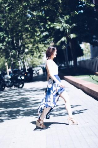 blog blogger zaful fashionblogger dress madrid españa blogueras gemelas carmen marta moda fashion heels tacones cuñas marrones espalda descubierta