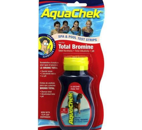 Teststrips bromin/pH/alkalitet