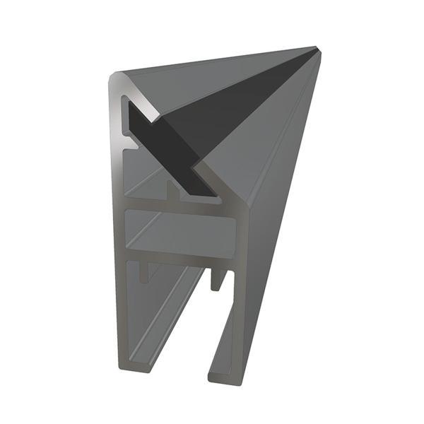 Magnetprofil fast glassfelt nisjemontering