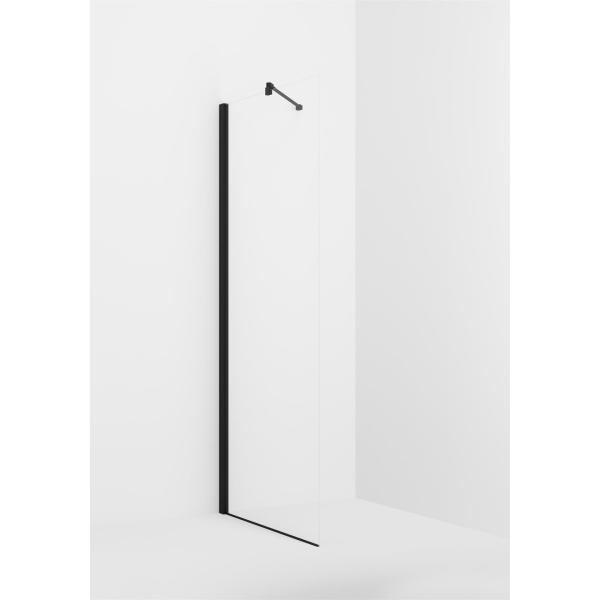 VikingBad glassfelt rett Liam 20-120cm sort matt profil
