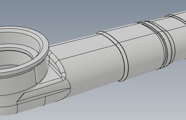 VikingBad vannlås tilkobling benkeplate