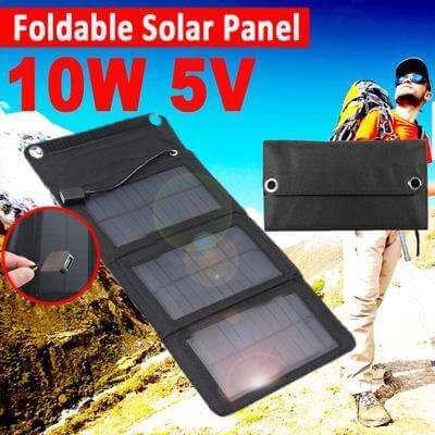 Painel Solar Dobrável À Prova D' Água Porta USB Carregador de Bateria